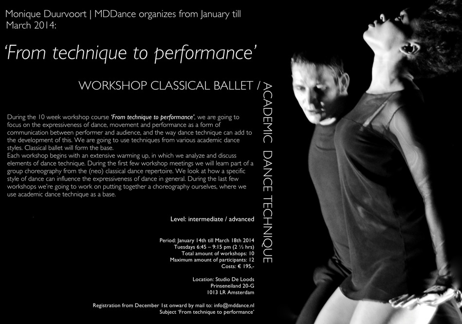 Workshop From technique to performance (ENG)